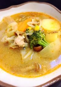 なめこでとろ~お野菜たっぷり中華風スープ