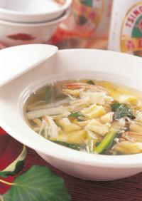 干貝柱と白菜のスープ