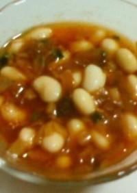 大豆の赤いピリ辛オイル漬け♥軽いタイプ