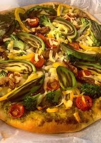 米粉の野菜ピザ☆バジルソース