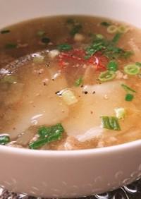 簡単米粉のワンタンスープ☆グルテンフリー