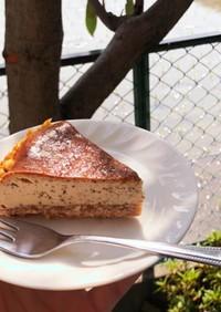 紅茶のベイクドチーズケーキ
