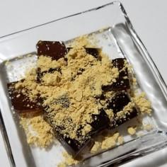 トッピング☆黒糖わらびにきな粉