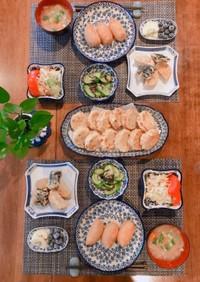 蓮根の明太&鶏ひき肉挟み揚げ