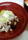 茄子のゆずポンおろし&ジャガイモ味噌汁