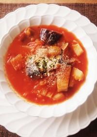 ナスたっぷり☆ガーリックトマトスープ