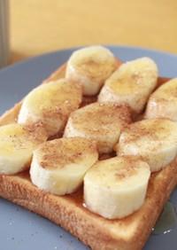 簡単♡バナナシナモンハニートースト