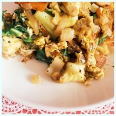 卵と野菜の生姜サラダ