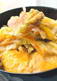 父の日♡「ミョウガと豚肉」大人の卵とじ丼