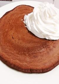 小麦粉で作るココアホットケーキ