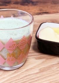 りんごときゅうりの豆乳スムージー