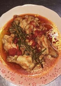 手羽元のトマトソース煮ローズマリーの香り