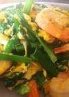 簡単中華・海老とニラと卵の塩炒め