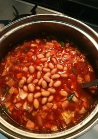 簡単スパイシーなチリコンカン(スープ)