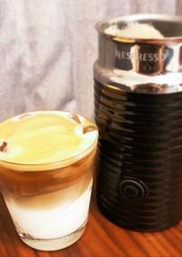 ミルクフォーマーでダルゴナ風コーヒー