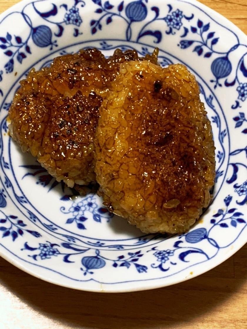 残りご飯で五平餅・しょうゆ味