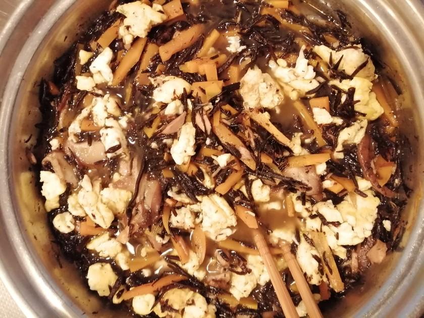 大豆不使用ひじきの煮物
