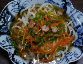 和風あんかけうどん___Udon(thick white noodles) topped with a sticky Japanese soy soup