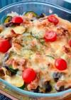カレー風味☆ナスとズッキーニのチーズ焼き