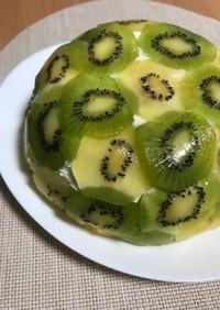 低糖質☆キウイのドームレアチーズケーキ