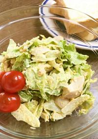 市販の味付け玉子とレタスの簡単サラダ