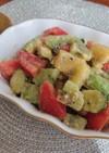 キウイとアボカドの塩麹サラダ