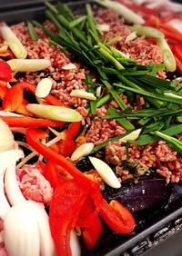 豚肉とお野菜たっぷりホットプレートおかず