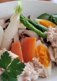 温野菜のサラダ具沢山ドレッシング