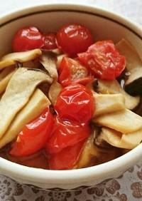 ミニトマトとエリンギの炒めマリネ
