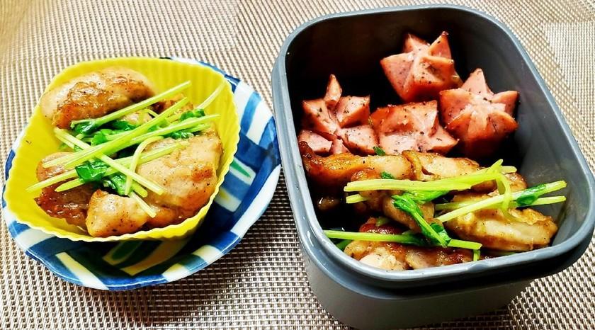 鶏と豆苗のカレー炒め(お弁当用)