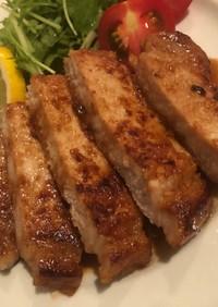 豚ロースの漬け焼き(塩麹味噌)