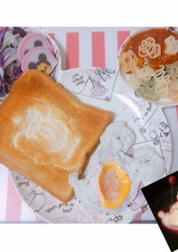 ディズニー 朝食 ふわふわ目玉焼き