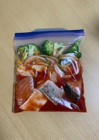 冷凍作り置き!鮭とブロッコリーのトマト煮