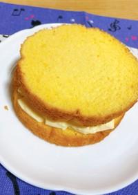 【お手軽】プリンサンドスポンジケーキ