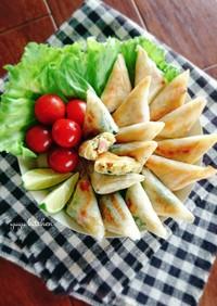 牡蠣味噌ペーストで☆簡単サモサ。