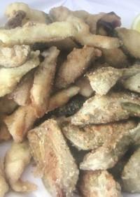 カルチョーフィと白身魚フライ