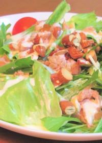 ツナとレタスとナッツのヨーグルトサラダ
