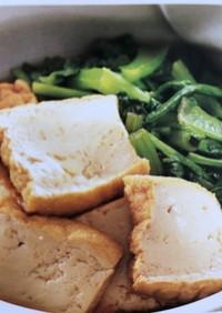 小松菜と厚揚げの煮びたしor甘辛焼き