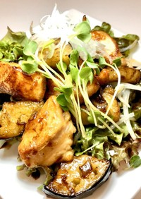 ★鶏肉とナスのバルサミコ酢あん★