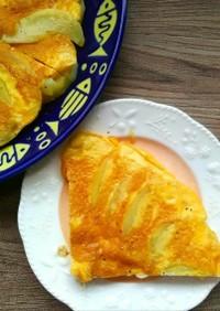ジャガイモと卵だけのスパニッシュオムレツ