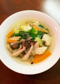 鶏胸肉&野菜たっぷりコンソメスープ