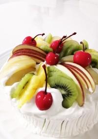 フルーツデコレーションケーキ。自分用覚書