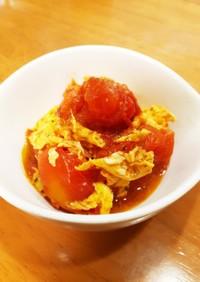 完熟トマトと玉子のオイスターソース炒め