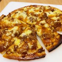 韓国海苔と照り焼きチキンのピザ