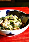 空心菜と肉そぼろのアジアンな炒り豆腐