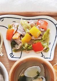 保育園給食 豚肉と野菜の味噌炒め