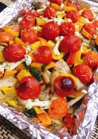 夏野菜たっぷりの鶏肉オーブン焼き