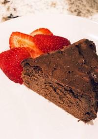 簡単チョコチーズケーキ(バスク風)