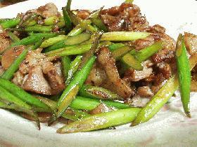 スタミナ!にんにくの芽と豚肉の炒め