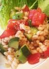 もち麦サラダ (朝ごはん)